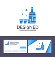 creative business card and logo template drink vector image