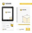 cube business logo tab app diary pvc employee vector image vector image