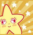 cute and tender star cartoon vector image
