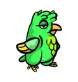 cute funny green bird with different emotions vector image vector image