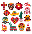 day dead mexican holiday elements decorative vector image vector image