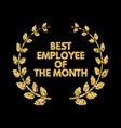 employee of the month gold glitter lettering vector image