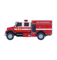 fire engine emergency service firefighting vector image vector image