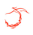 fire tail phoenix flying symbol design vector image vector image