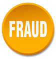 fraud orange round flat isolated push button vector image vector image