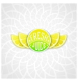Fresh juice label vector image vector image