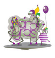funny sheep on mardi gras vector image