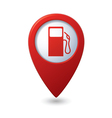 gas station red map pointer vector image vector image