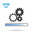 gear flat icon on isolated white background vector image
