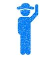 Gentleman Hello Grainy Texture Icon vector image vector image