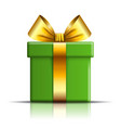 gift box icon surprise present template gold vector image vector image