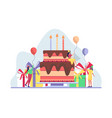 happy birthday party celebration with friend vector image