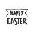 happy easter calligraphy isolated on white vector image vector image