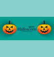 happy halloween pumpkin banners design vector image