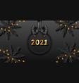 happy new year 2021 dark background vector image