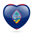 Heart icon of Guam vector image vector image