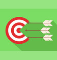 icon target with arrows in flat design stock vector image vector image