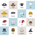 Icons Hat Flat Line vector image vector image