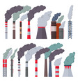 industry factory industrial chimney vector image vector image