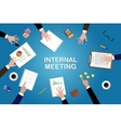 internal meeting concept work in desk with graph vector image vector image