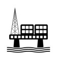 isolated oil platform icon vector image vector image