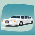 isolated white limousine vector image vector image
