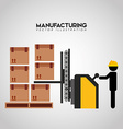 manufacturing industry design vector image