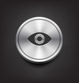 Metal Eye Icon vector image vector image