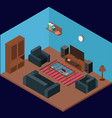 modern isometric room vector image