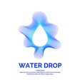 modern line logo of the water drop vector image vector image