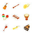 musical instrument icons set isometric style vector image vector image