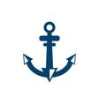 nautical anchor isolated white background vector image