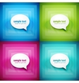 Paper speech bubble background set vector | Price: 1 Credit (USD $1)