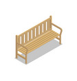 park wooden bench isometric 3d icon vector image vector image