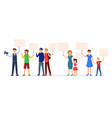 people with protest placards flat vector image