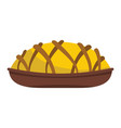 pie colorful bakery product icon vector image vector image
