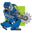 Razor Machine Robot vector image vector image