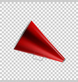 realistic megaphone red isolated object vector image
