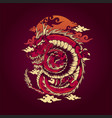 red dragon japan traditional with cloud ornaments vector image