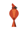 red northern cardinal icon in flat design vector image vector image