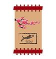sakura flowers background cherry blossom banner vector image vector image