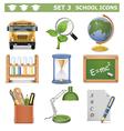 School Icons Set 3 vector image vector image