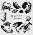 seafood lovers pack vector image vector image