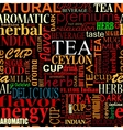 Seamless background with tea tags vector image