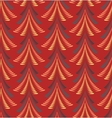 Seamless Christmas pattern Stylized ornament of vector image