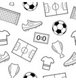 seamless pattern of football symbols vector image