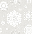 seamless vintage pattern from snowflakes vector image vector image