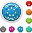 Services award vector image vector image