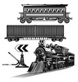 set trains on road vector image
