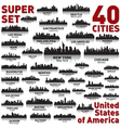 Super city skyline set United States of America vector image